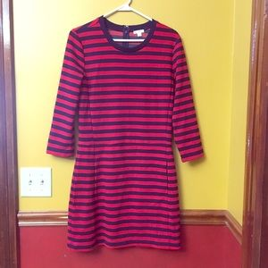 Blue and red thick quarter sleeve GAP dress